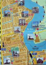 Mapa trayecto a Zaanse Schans