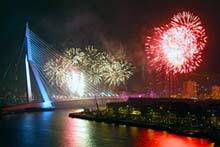 Fuegos artificiales en Rotterdam fin de año