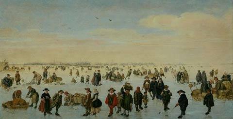 IJsvermaak op het IJ voor Amsterdam, 1620 - 1623 Arent Arentsz