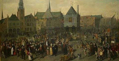De Dam in 1604 - 1633 - Adriaen van Nieulandt
