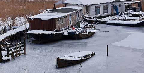 Casas Flotantes en invierno