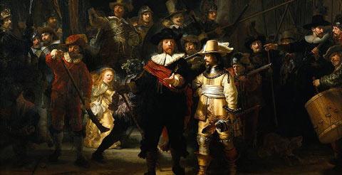 Ronda Nocturna - 1642 - Rembrandt