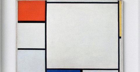 Compositie no. IV , met rood, blauw en geel